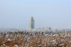冬天风景。 库存图片