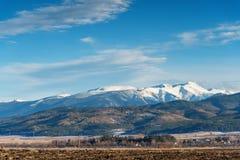 冬天风景在保加利亚 免版税库存照片