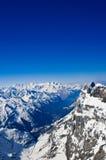 冬天风景在少女峰 免版税库存照片