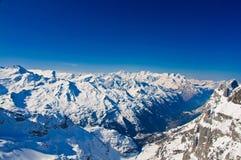 冬天风景在少女峰 图库摄影