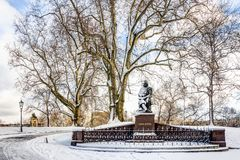 冬天风景在德累斯顿 免版税库存照片
