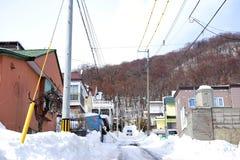 冬天风景在札幌,北海道,日本2018年 库存图片