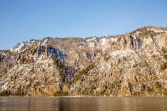 冬天风景在西伯利亚 免版税库存照片