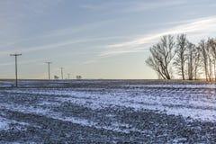冬天风景日落 库存图片