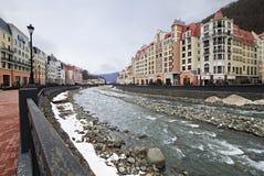 冬天风景罗斯谷 免版税图库摄影