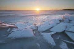 冬天风景自然 免版税库存照片
