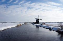 冬天风景荷兰 免版税库存图片