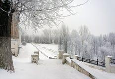 冬天风景, 12月在城市 库存照片