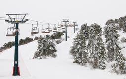 冬天风景,滑雪胜地 库存图片