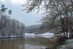 冬天风景/Winter湖 库存图片