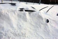 冬天风暴在纽约地区 免版税库存图片