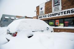 冬天风暴赫拉克勒斯 免版税库存照片