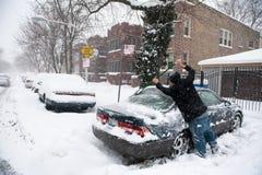 冬天风暴赫拉克勒斯 图库摄影