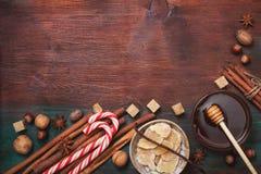 冬天香料和成份烹调的 图库摄影