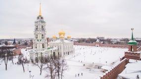 冬天鸟瞰图的05图拉克里姆林宫 01 2017年 免版税库存照片