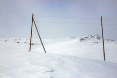冬天,积雪的山 图库摄影