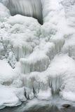 冬天, Comstock小河小瀑布 免版税库存照片