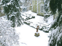 冬天围场 库存照片