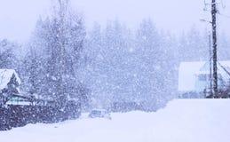 冬天 它` s寒冷,它下雪的` s,那里` s在街道上的很多雪 免版税库存照片