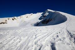 冬天登山 免版税图库摄影