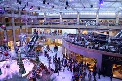 冬天购物在HK 免版税库存图片