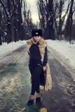 冬天画象 免版税图库摄影