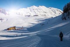 冬天滑雪驻地 库存照片