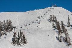 冬天滑雪驻地 免版税库存图片