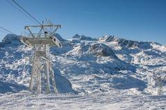冬天滑雪驻地 图库摄影