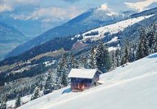 冬天滑雪reasort 库存图片