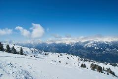 冬天滑雪reasort 免版税库存图片