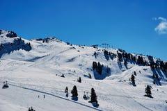 冬天滑雪reasort 免版税库存照片