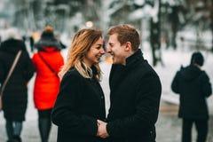 冬天LoveStory在华伦泰` s天 库存照片
