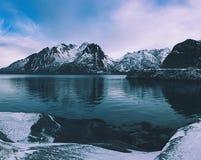 冬天Norway湖 图库摄影
