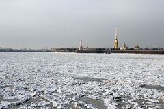 冬天Sant彼得斯堡,俄罗斯 免版税库存图片