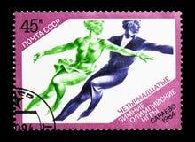 冬奥会,萨拉热窝, serie,大约1984年 库存图片
