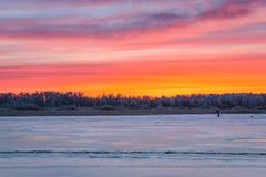 冬季体育冰渔 免版税图库摄影