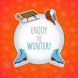 冬季体育背景 库存照片