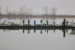 冬季体育钓鱼 库存图片