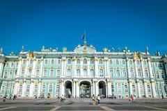冬宫埃尔米塔日博物馆在圣彼德堡,俄罗斯 免版税库存图片