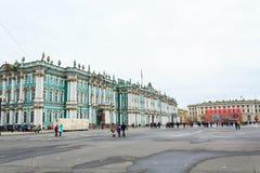 冬宫,埃尔米塔日博物馆在圣彼得堡,俄罗斯 免版税库存图片