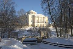 冬日在Pavlovsk公园 图库摄影