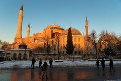 冬时的圣索非亚大教堂博物馆 库存照片