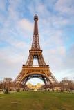 冬时的艾菲尔铁塔在巴黎,法国 免版税图库摄影