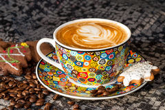 冬时caffee ` s颜色 免版税库存图片