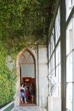 冬景花园段落在沃龙佐夫(阿卢普卡)宫殿 库存照片