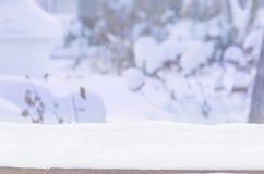 冬景花园风景被弄脏的背景 库存照片