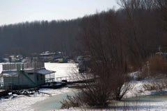 冬眠在Borcea胳膊2的风景 库存照片