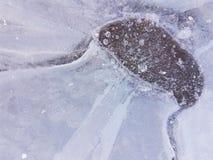 冰、水和土地的美好的图象Cañadas del的泰德峰,特内里费岛19 免版税库存图片