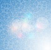 冰与冷淡的表面的线纹理的抽象背景 向量例证